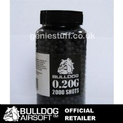 2000 Black BullDog Airsoft BB Ammo 0.20g